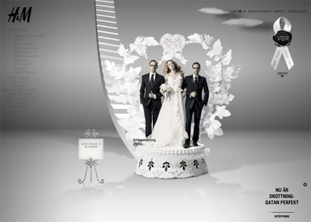 Foreign provided the vows for the marriage between H&M and Viktor and Rolf.