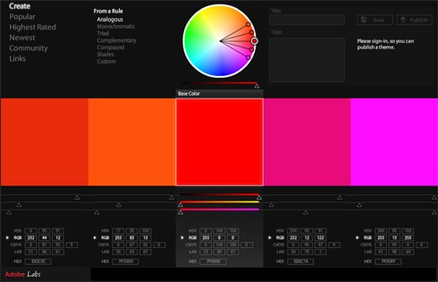Working with Colors. Have you found Adobe Kuler?