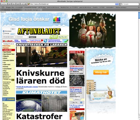 We got Swedish newspaper Aftonbladet covered