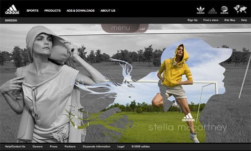 Social buttons and blog this functionality in our latest campaign for adidas by Stella