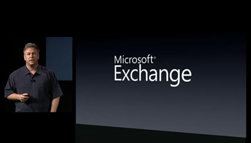 Wow. Microsoft Exchange Support in iPhone