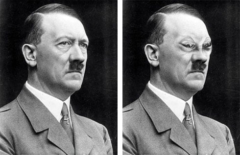 Adolf Hitler and his evil eyes