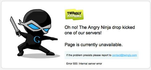 Twingly turns server problems into branding