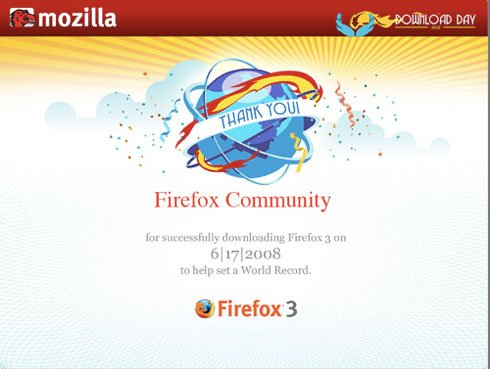8,002,530 downloads when Firefox sets a new Guinness World Record