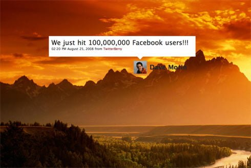 Facebook hits 100 million users