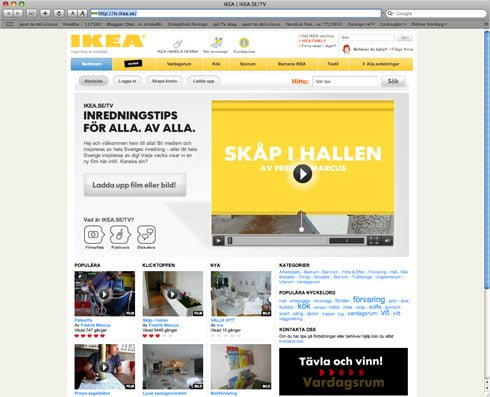 IKEA makes relevant use of web-TV