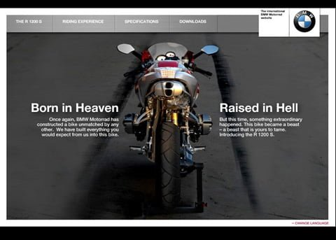 A campaign site for BMW motorrad
