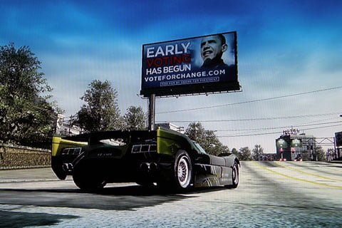 Barack Obama places advertising in Xbox Live games