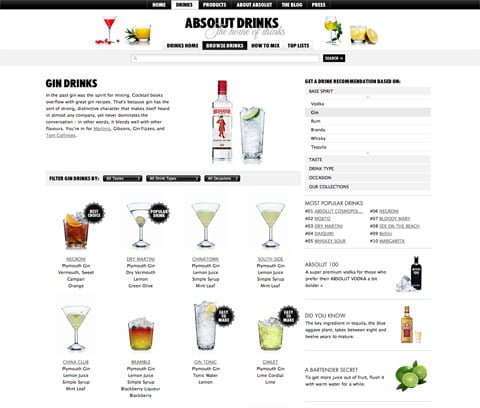 Absolut.com gets a more user friendly user interface but I lack Innovation.