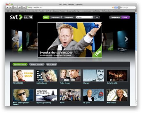 Swedish Television launches a great online television site but where's the social interaction?