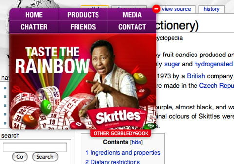 Skittles innovates their brand through the use of widgets and social media