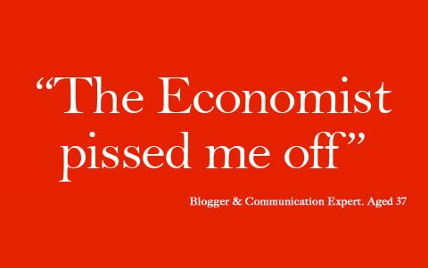 Dear The Economist – it's MY thinking space, not yours!