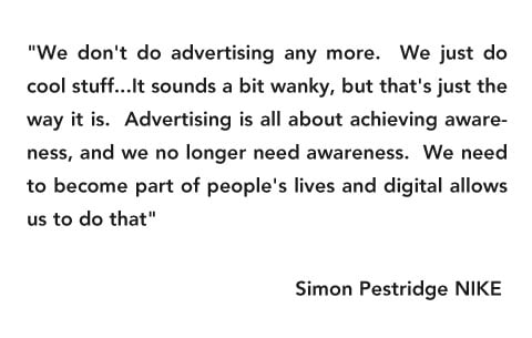 Simon Pestridge From Nike Make Future Advertising Sound Simple
