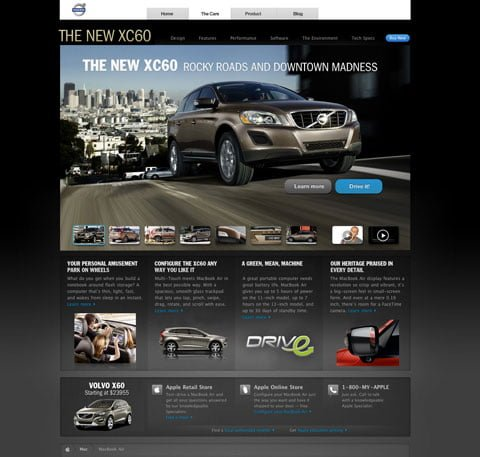 An alternative XC60 Volvo website based on apple