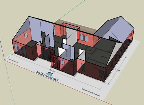 3D visualisation with SketchUp