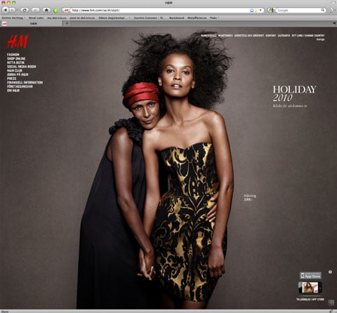 The Global H&M website