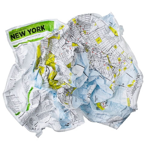 Crumpled Maps New York